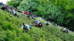 Cooper's Hill Cheese-Rolling Festival in Brockworth, England