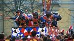 Battle of the Oranges Festival in Ivrea, Italy