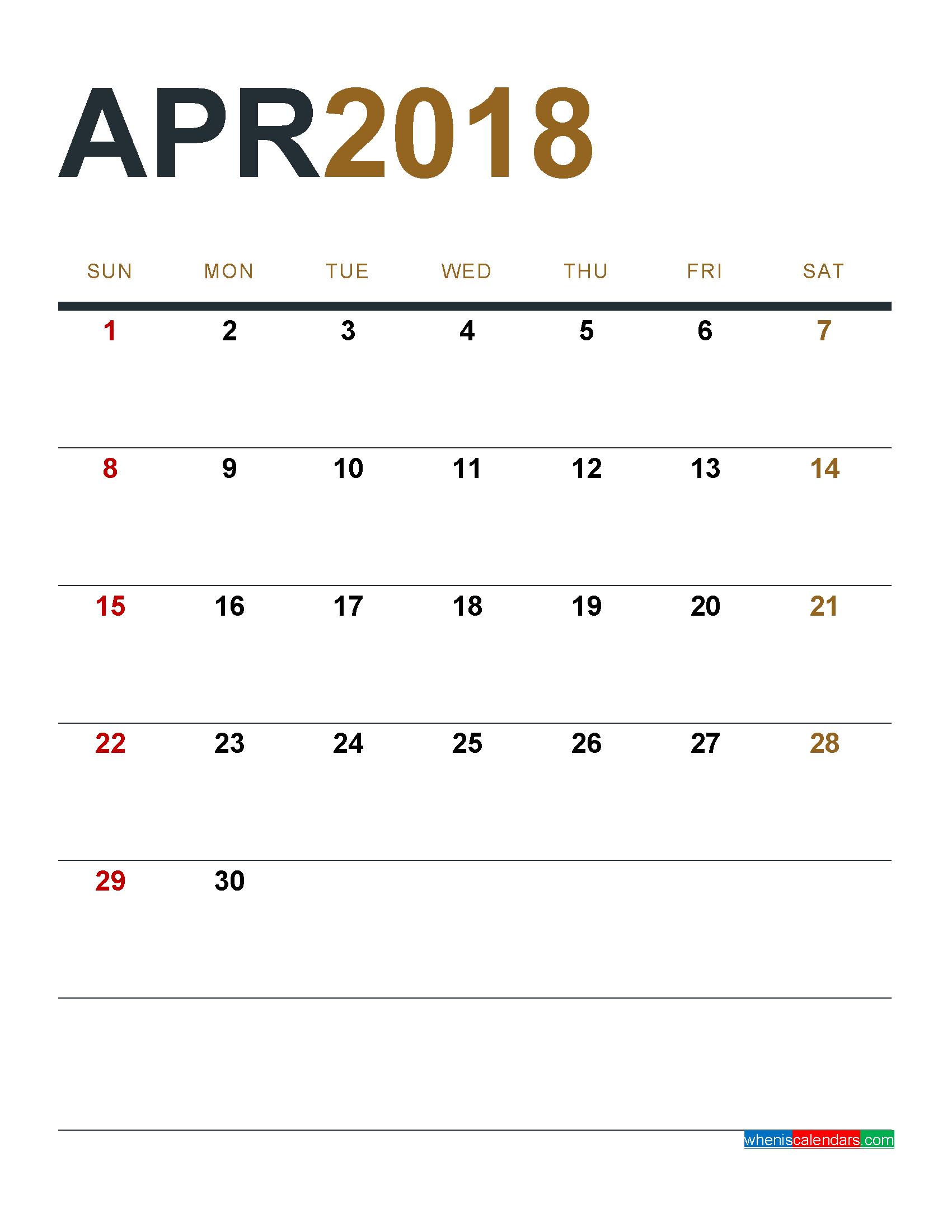 calendar pdf 2018