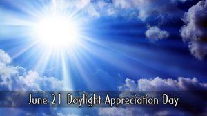 National Daylight Appreciation Day