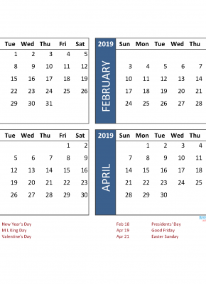 Printable 4 Month Calendar 2019 May June July August