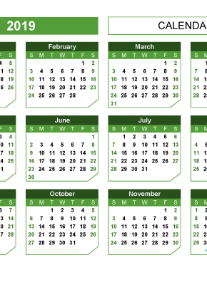 Download 12 month 2019 printable calendar with week numbers. Printable 2019 yearly calendar