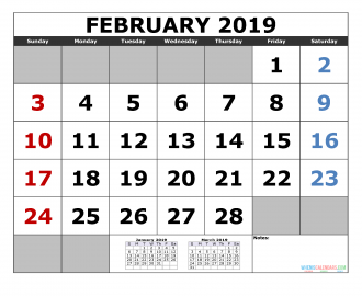 January 2019 Printable Calendar Template January February March 2019 3 Month Calendar Template