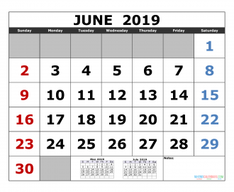 June 2019 Printable Calendar Template May June July 2019 3 Month Calendar Template