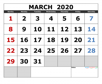 Calendar 2020 February And March.February 2020 Printable Calendar Template Excel Pdf Image Us