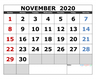 December 2020 Printable Calendar Template Excel, PDF ...