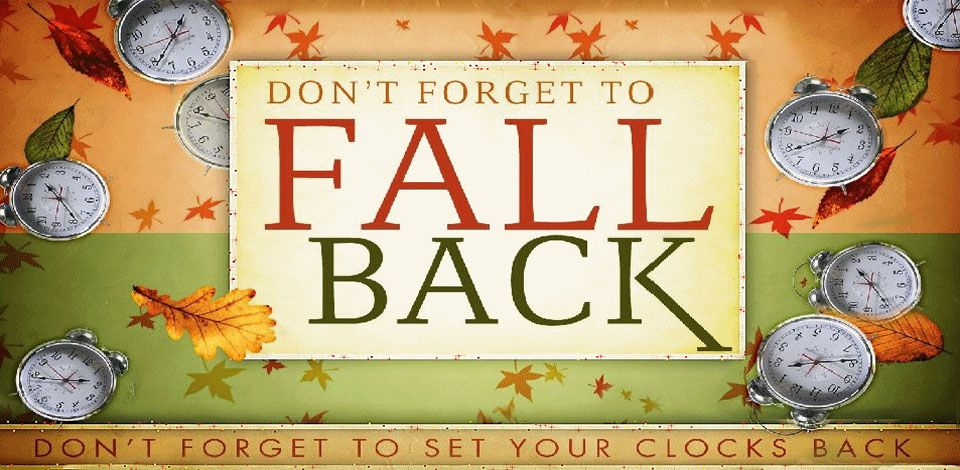 End of Daylight Savings Time - Fall Back Clock