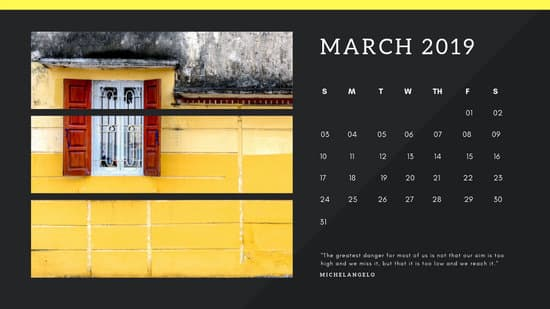black Photo collage Free March 2019 Calendar Template