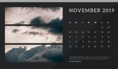 black Photo collage Free November 2019 Calendar Template