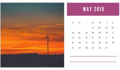 sunset colors Free May 2019 Photo Calendar Template