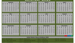Free Printable Monthly Calendar 2020 with Holidays