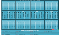 Free Printable Calendar with Holidays 2020 Word
