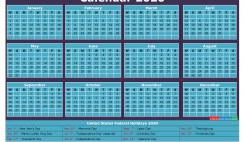 2020 Calendar with Holidays Printable Word