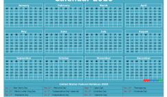 Free Printable 2020 Calendar with Holidays Word