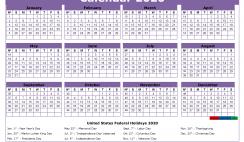 2020 Free Printable Calendar with Holidays Word