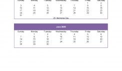 March April May June 2020 Calendar Printable Calendar Template