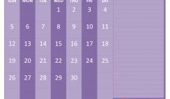 Printable April 2020 Calendar with Holidays Word
