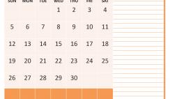 April 2020 Calendar with Holidays Free Printable