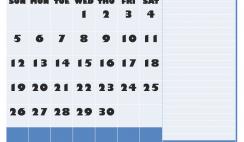 April 2020 Calendar with Holidays Word