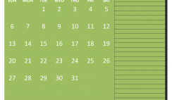 Free Monthly Printable Calendar 2020 December with Holidays