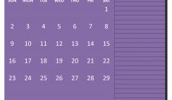 Free Printable February 2020 Calendar with Holidays