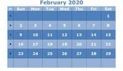 Printable February 2020 Calendar Template Word