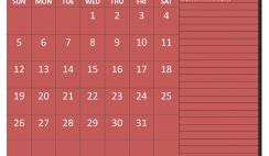 January 2020 Calendar with Holidays Free Printable