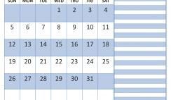 Printable January 2020 Calendar with Holidays Word