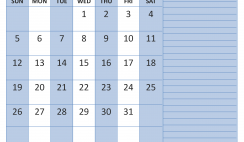 July 2020 Calendar with Holidays Word