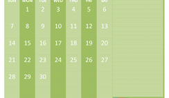 June 2020 Calendar with Holidays Word