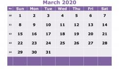 Free Printable March 2020 Calendar Templates