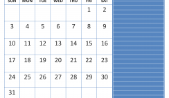May 2020 Calendar with Holidays Word