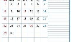 Free Printable November 2020 Calendar with Holidays