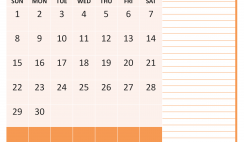 November 2020 Calendar with Holidays Free Printable