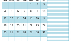 October 2020 Calendar with Holidays Word