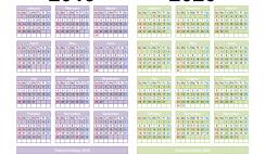 2019 and 2020 Calendar Printable Word