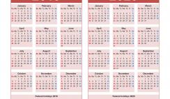 Free 2019 and 2020 Calendar Printable Word
