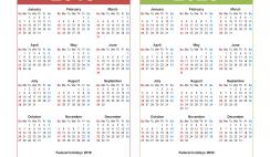 Free 2019 and 2020 Calendar Printable with Holidays
