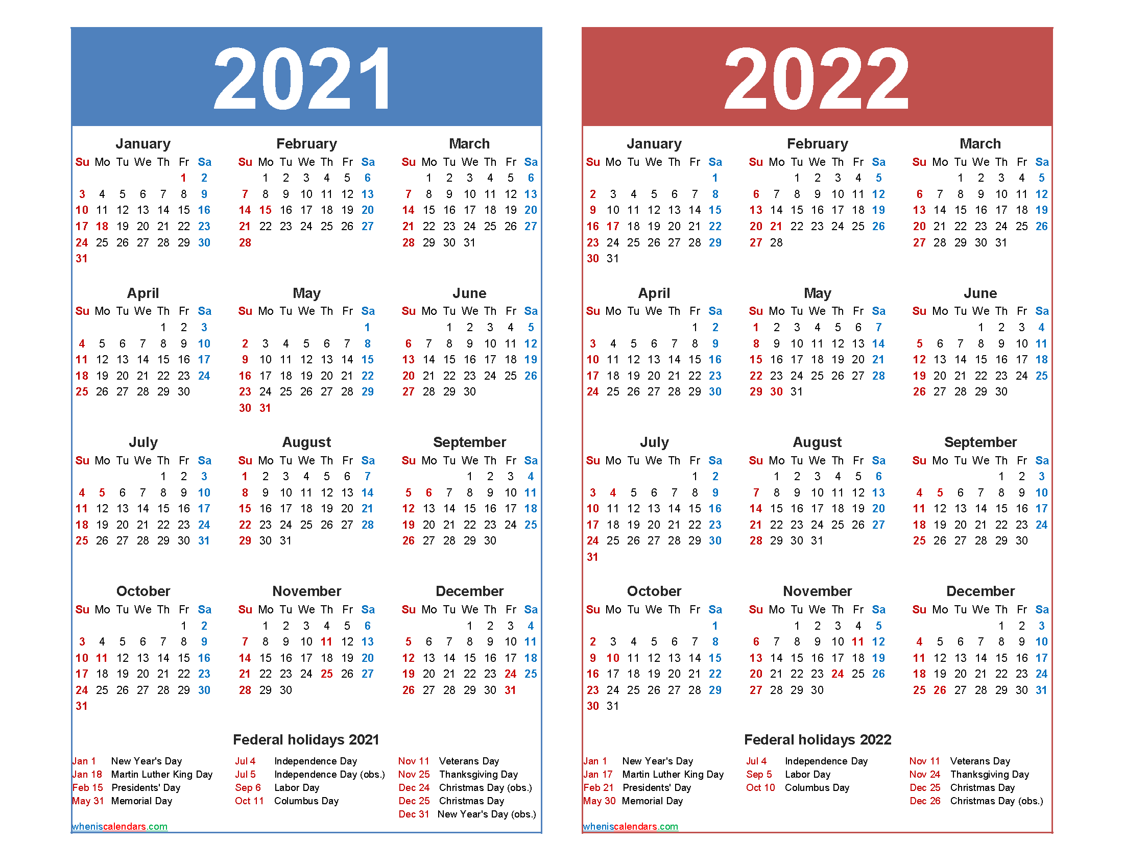 Calendar For 2021-2022 Free 2021 2022 Calendar Printable with Holidays – Free Printable