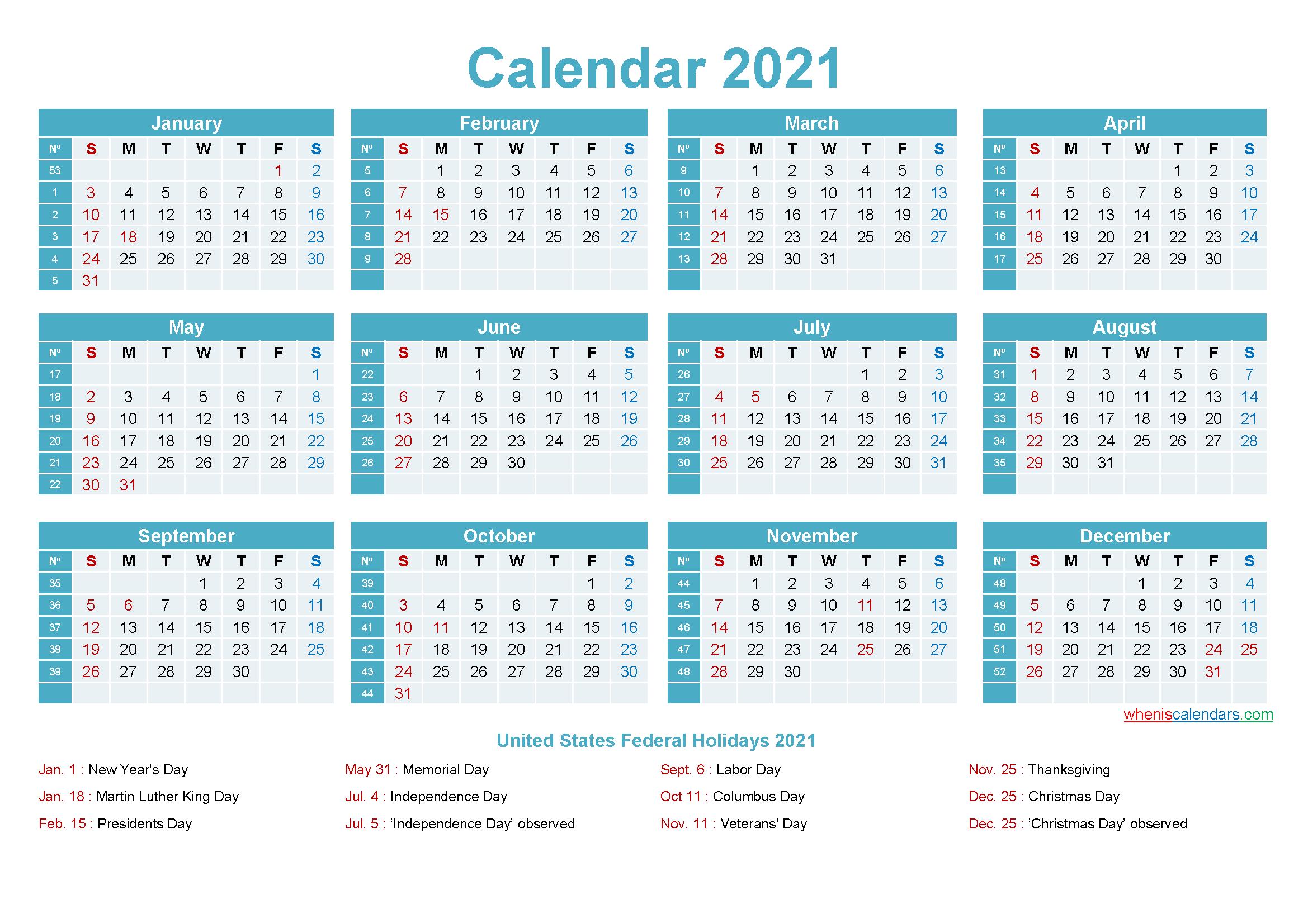 Editable Printable Calendar 2021 Editable Calendar Template 2021   Template No.ep21y12