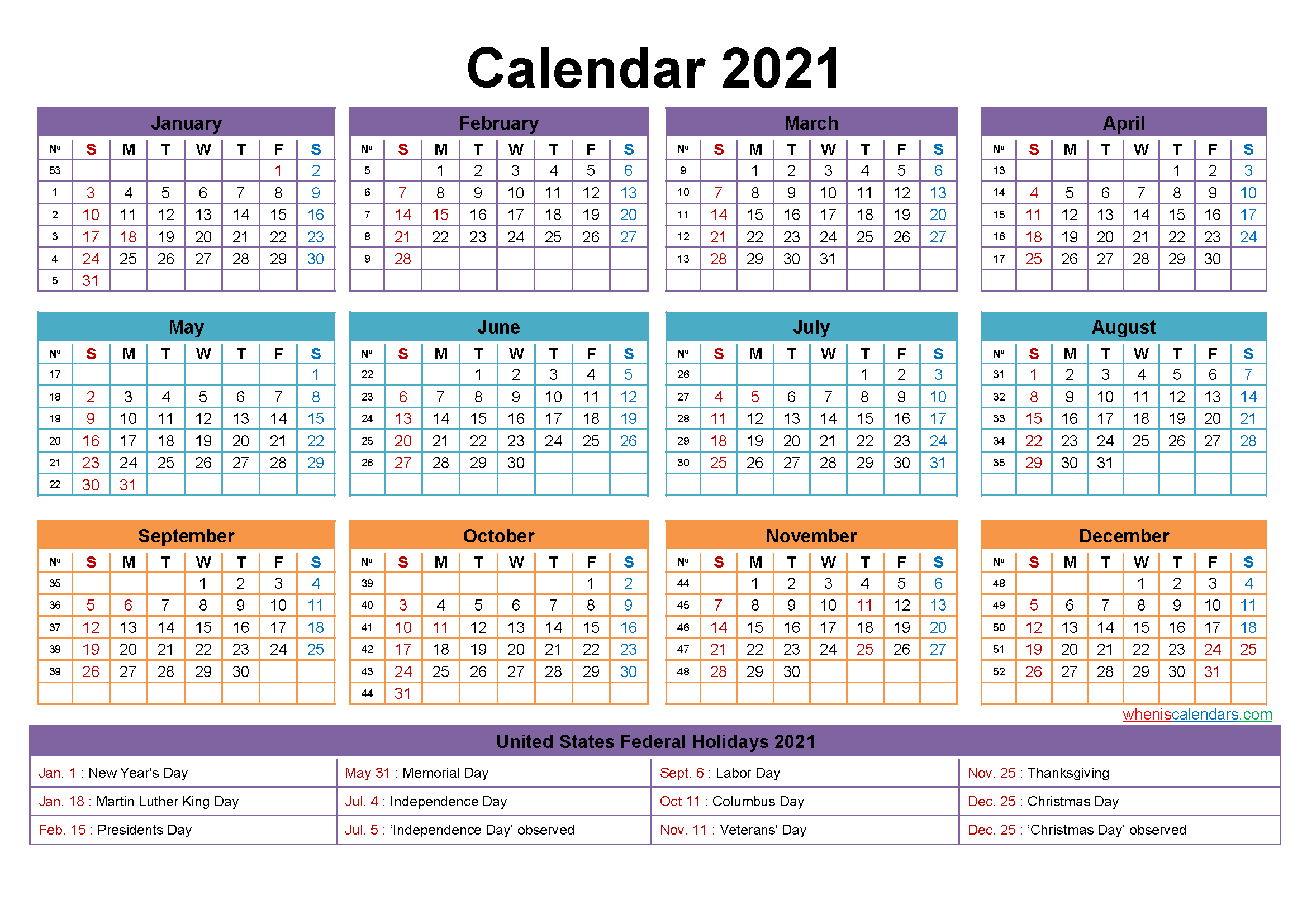 Free Editable 2021 Calendars In Word / Printable Calendar ...