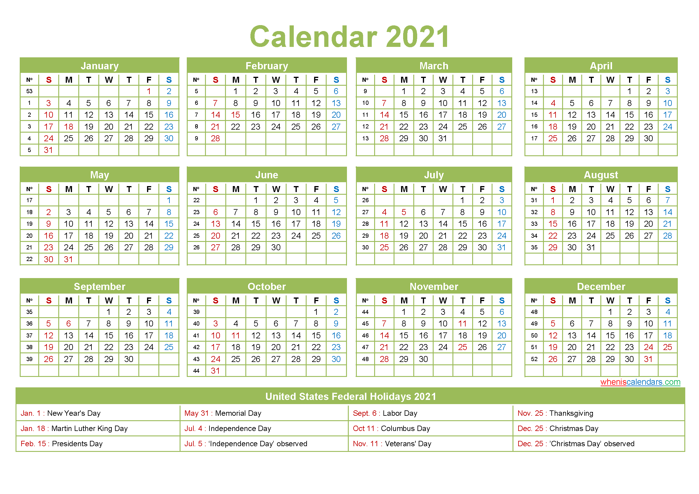 Small Desk Calendar 2021 Small Desk Calendar 2021 with Holidays – Free Printable 2020