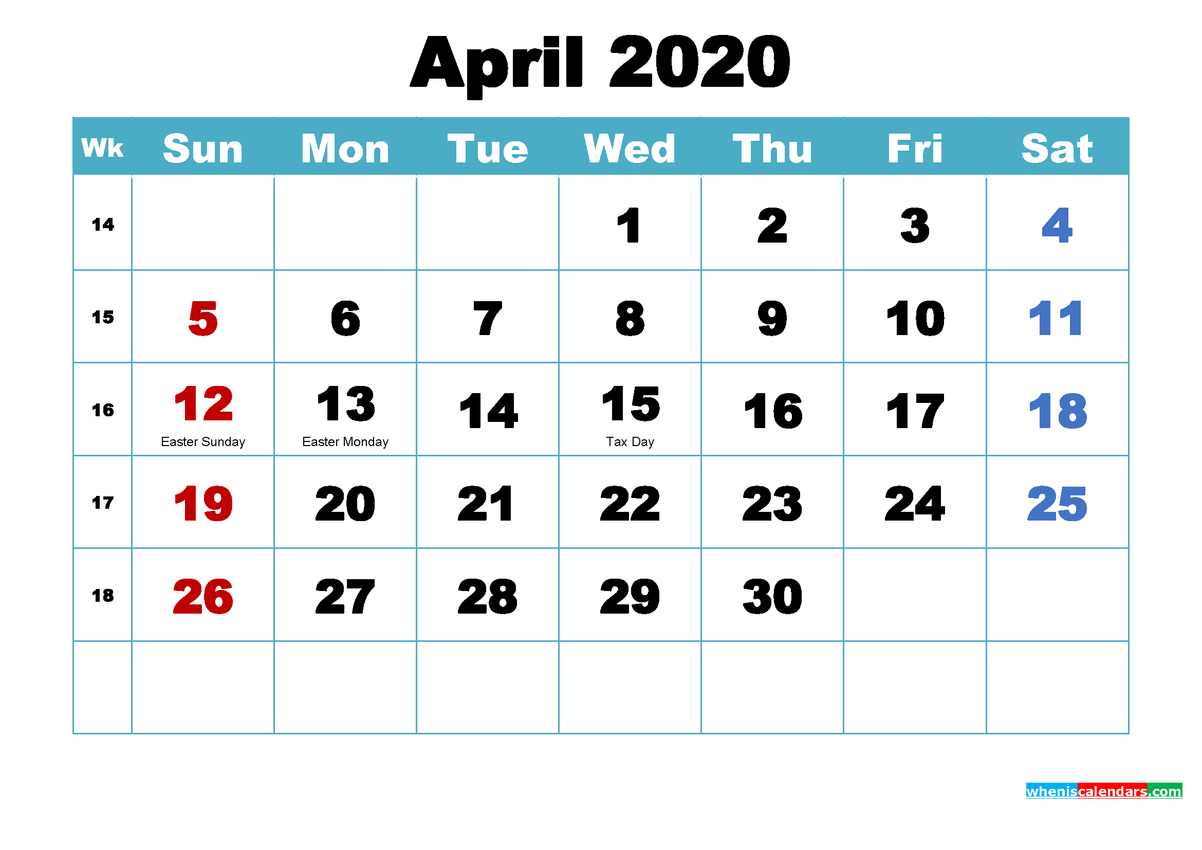 April 2020 Calendar Wallpaper Free Download Free Printable 2020