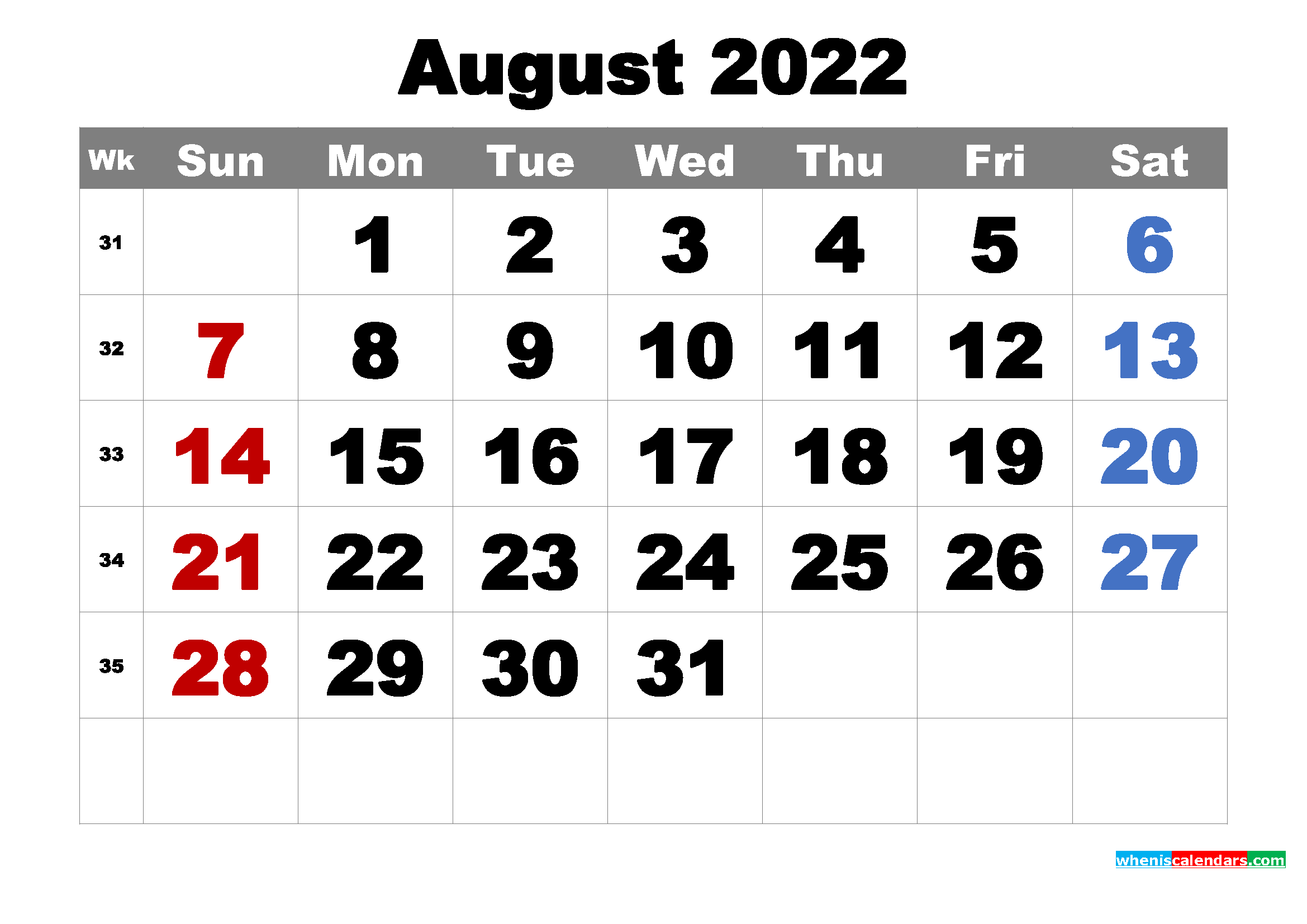 June July August 2022 Calendar Printable.Free Printable August 2022 Calendar Word Pdf Image Free Printable 2021 Monthly Calendar With Holidays