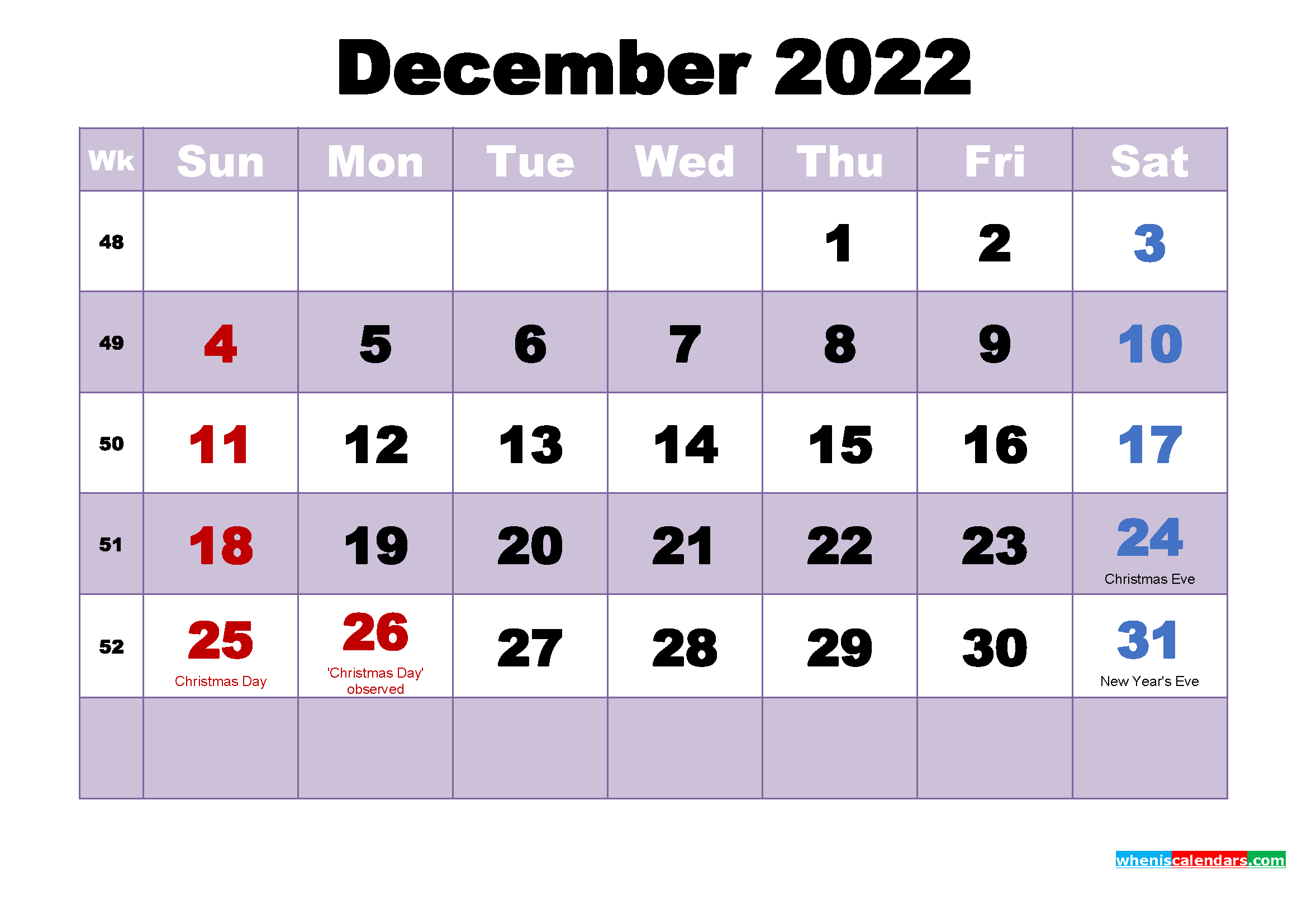 Printable December 2022 Calendar Word.Free Printable December 2022 Calendar Word Free Printable 2021 Monthly Calendar With Holidays