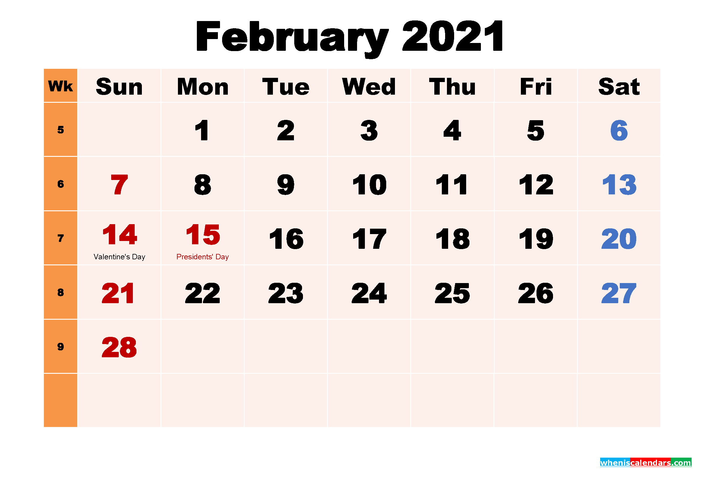 February 2021 Calendar Wallpaper Free Download