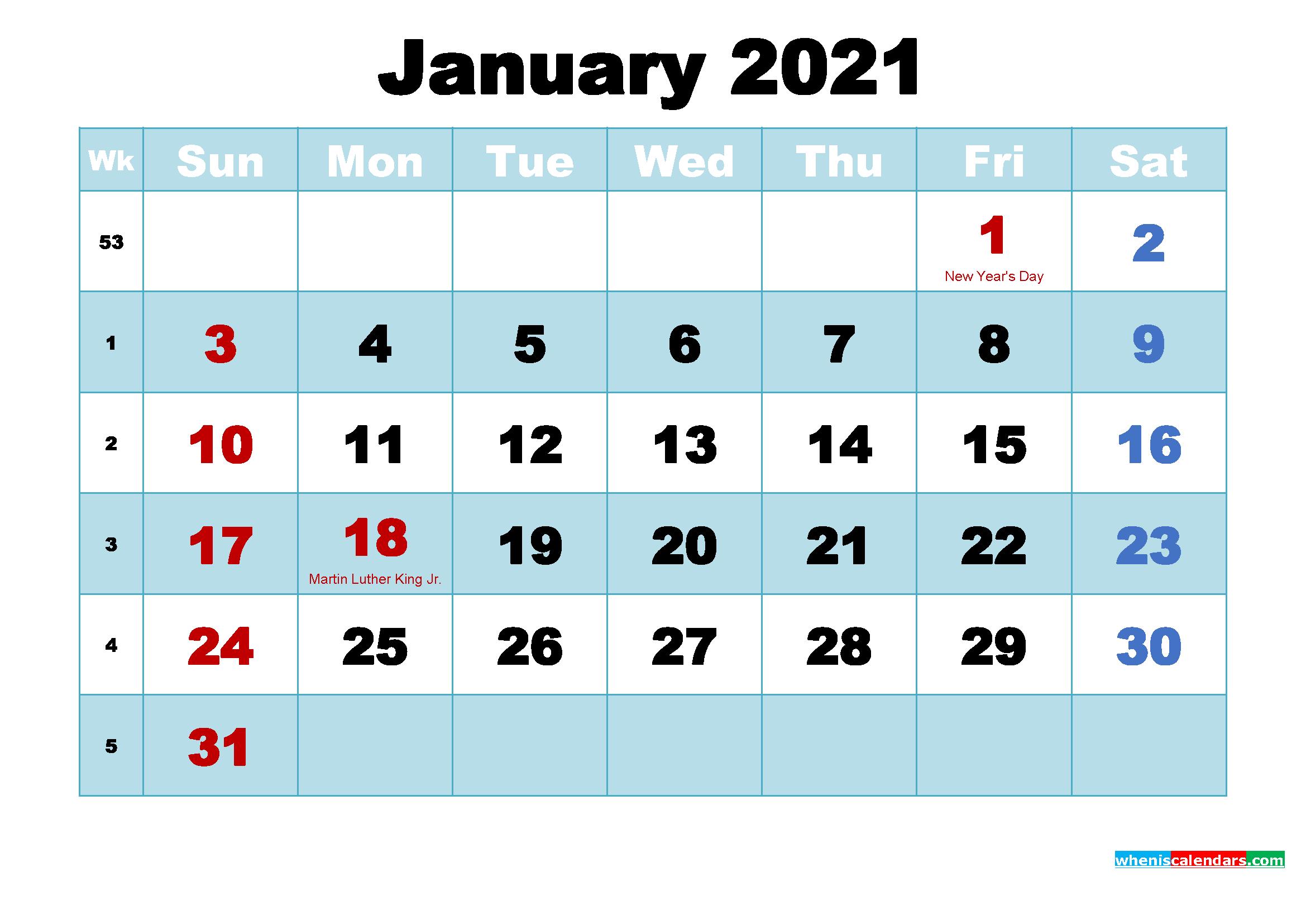 January 2021 Calendar Wallpaper High Resolution