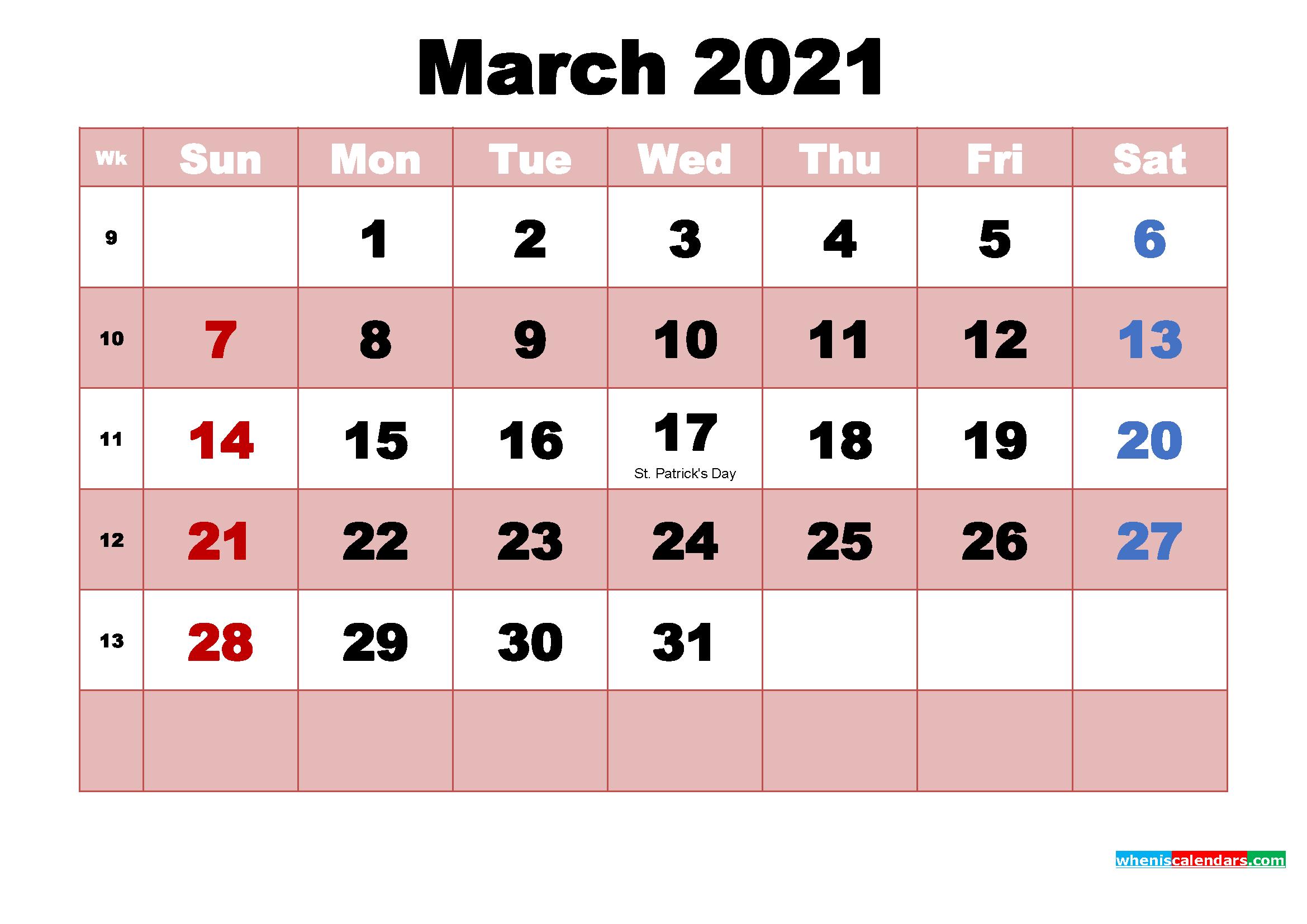 March 2021 Desktop Calendar Free March 2021 Desktop Calendar High Resolution – Free 2020 and