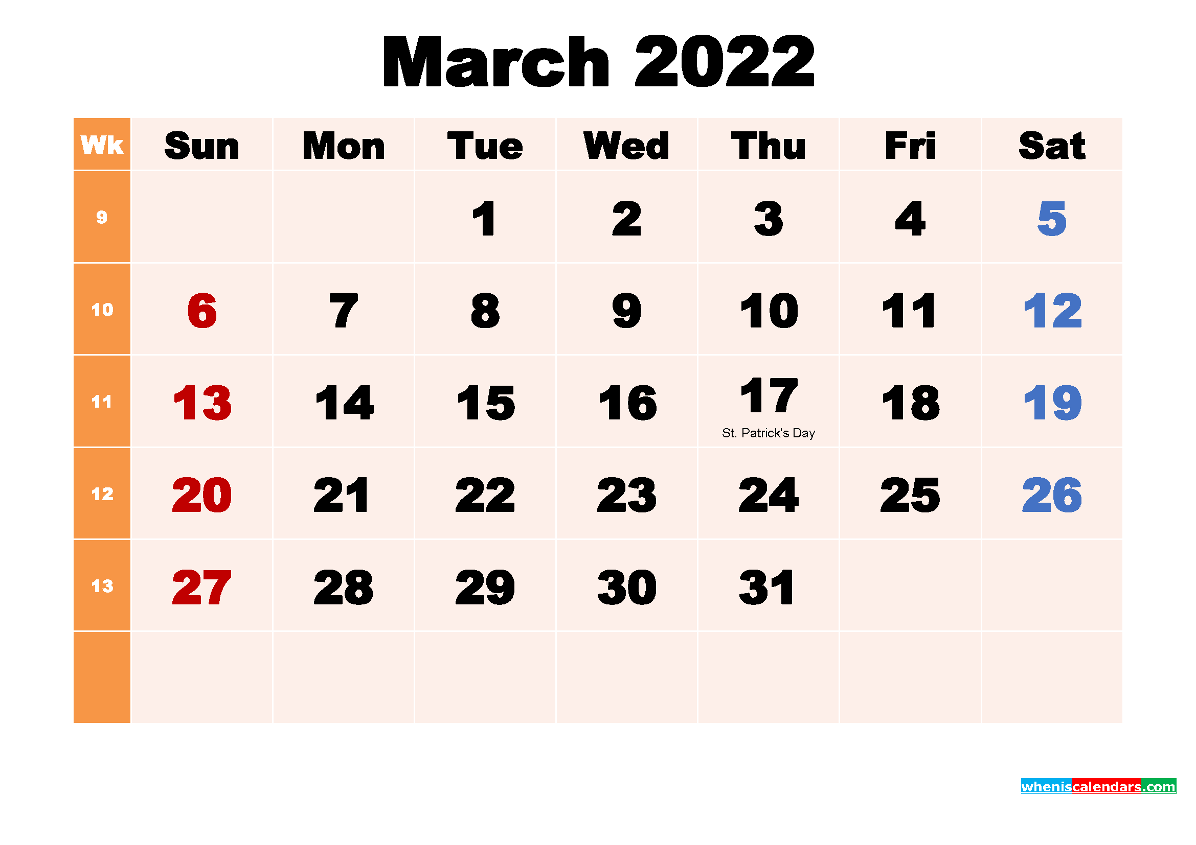 March 2022 Calendar Wallpaper Free Download