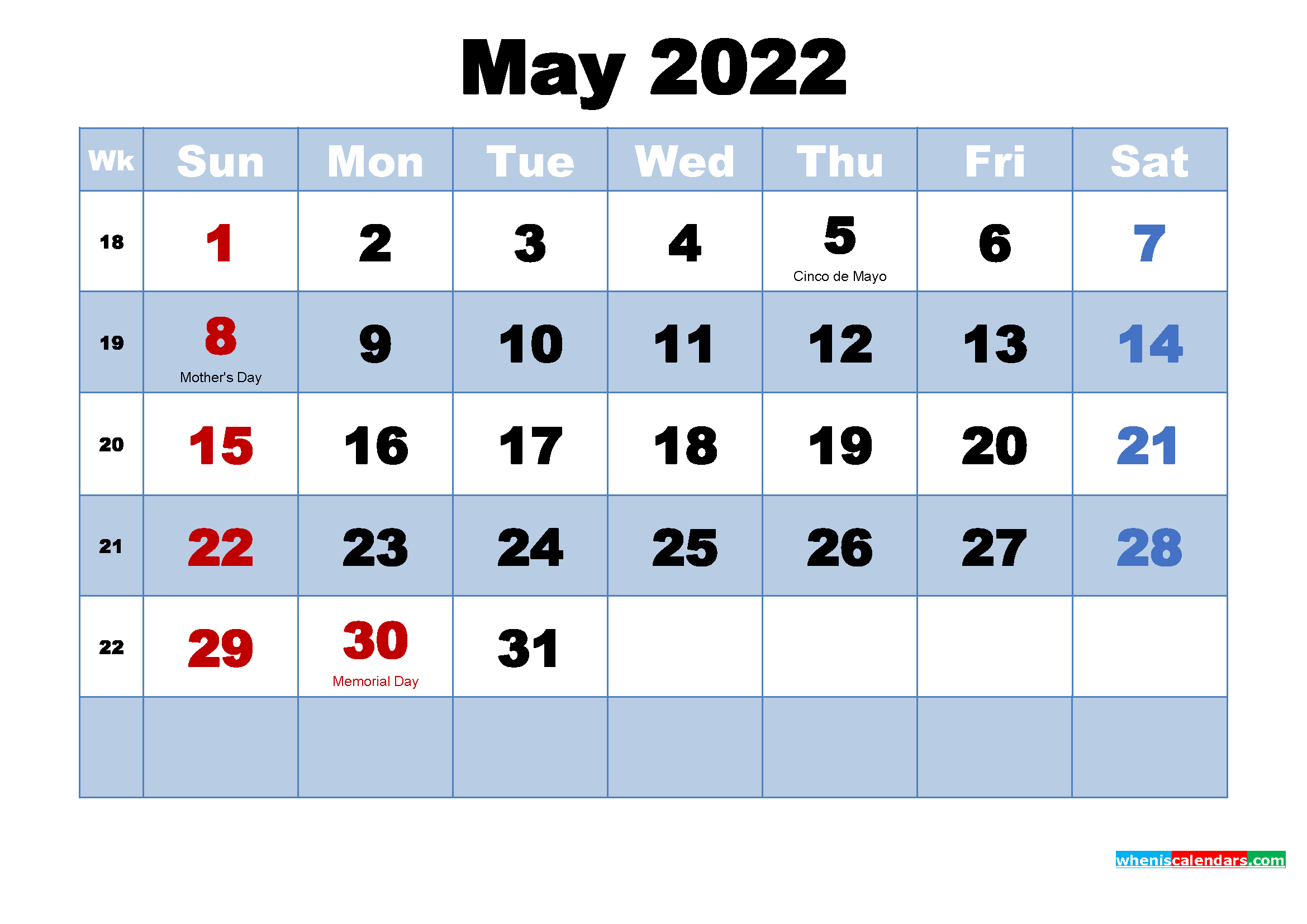 May 2022 Calendar Wallpaper High Resolution